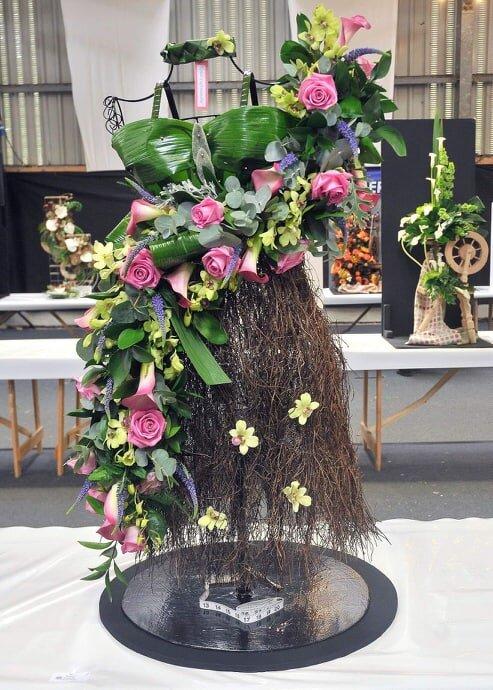 Ella Harris, Teme Valley YFC's Intermediate Floral entry.