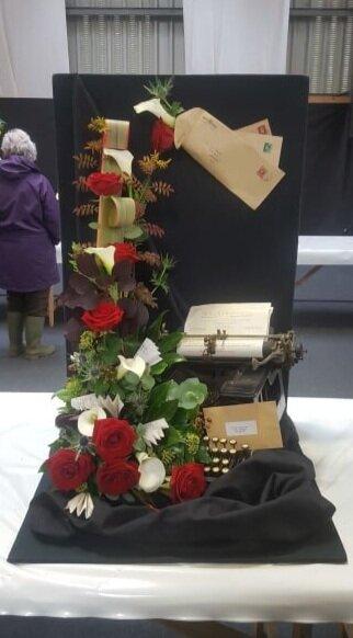 Anna Rogers, Presteigne YFC's Senior Floral entry.
