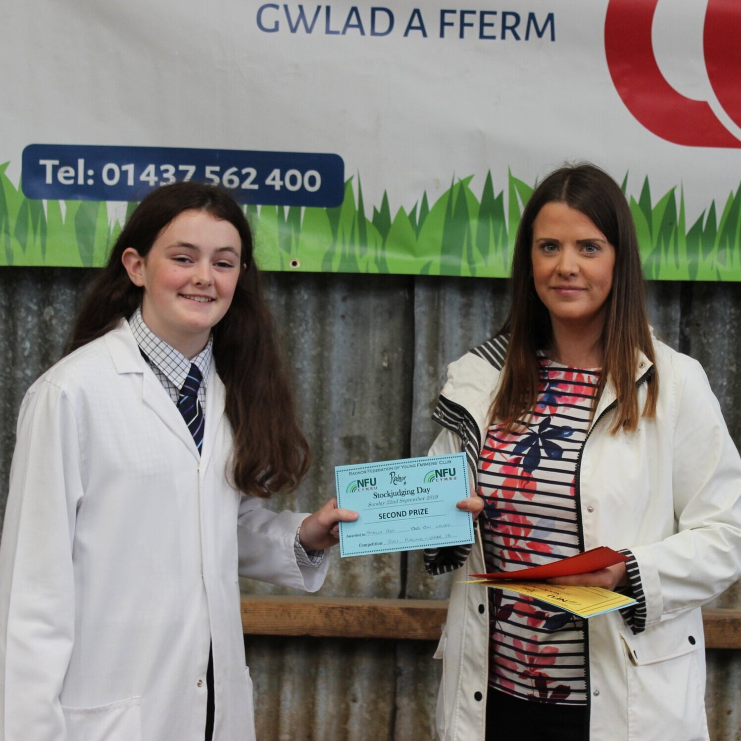 Fenella Price, Edw Valley YFC - joint 2nd in the Under 14's Placings with AJ Powell.