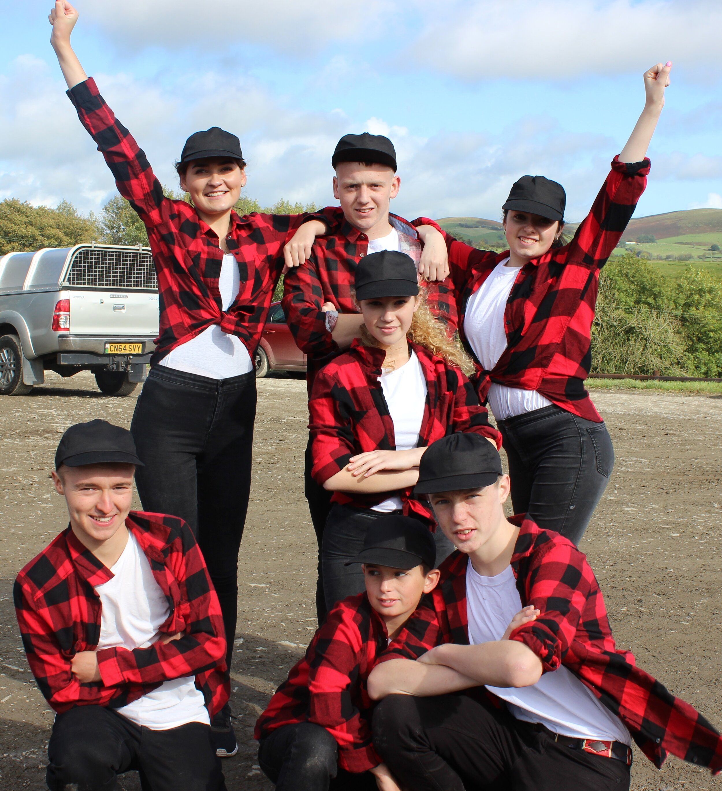 Knighton YFC in the Commercial Dancing competition.