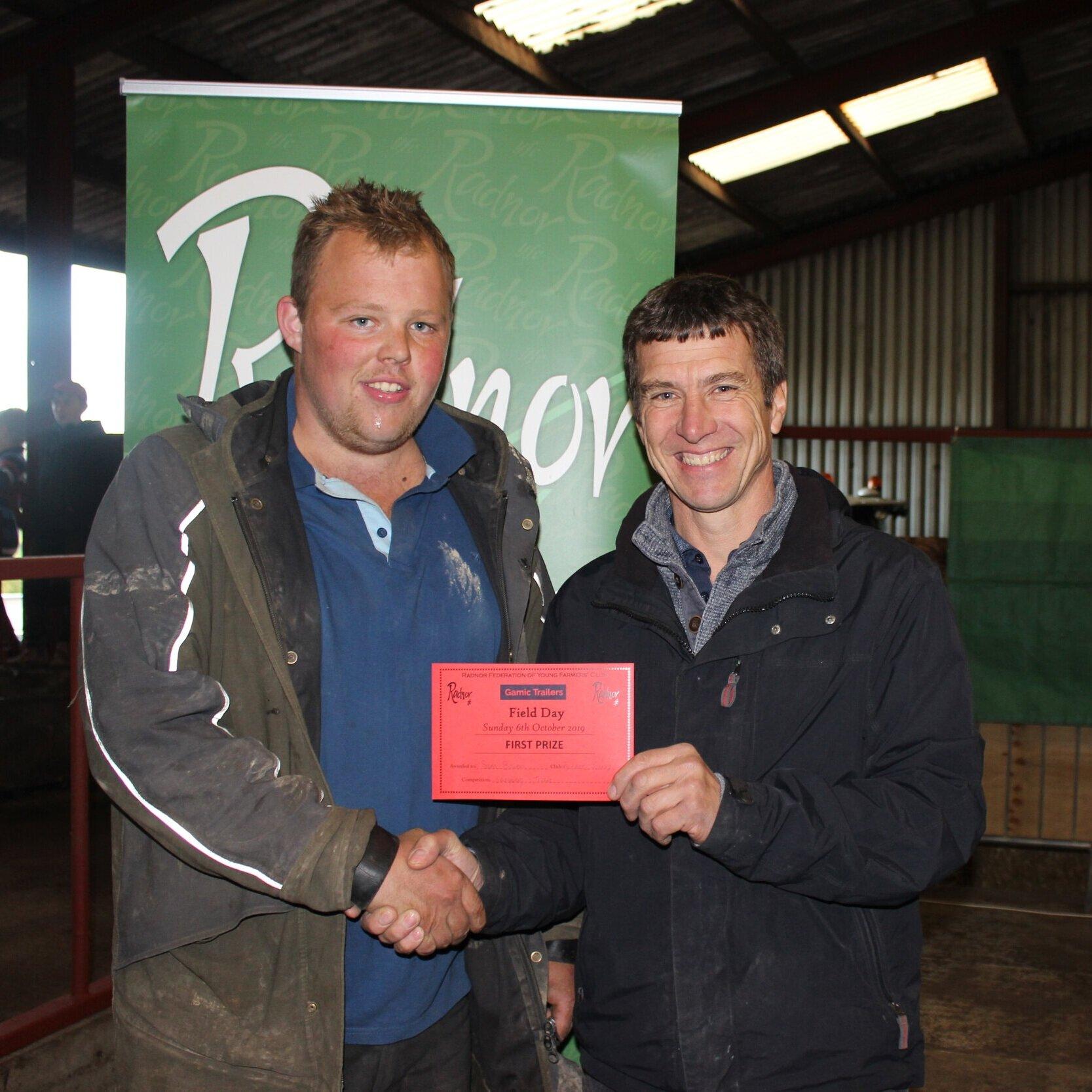 Sam Bowen, Radnor Valley YFC - 1st place in the Sheepdog Trials with Mark Watson