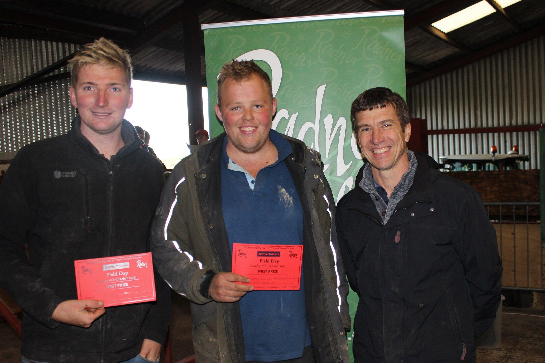 Robbie Savage & Sam Bowen, Radnor Valley YFC - 1st Place in the ATV Challenge with Mark Watson