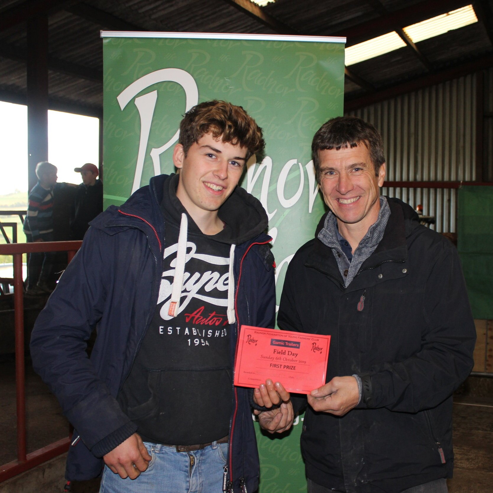 Thomas Swancott, Teme Valley YFC - 1st place in the Lamb Trimming with Mark Watson