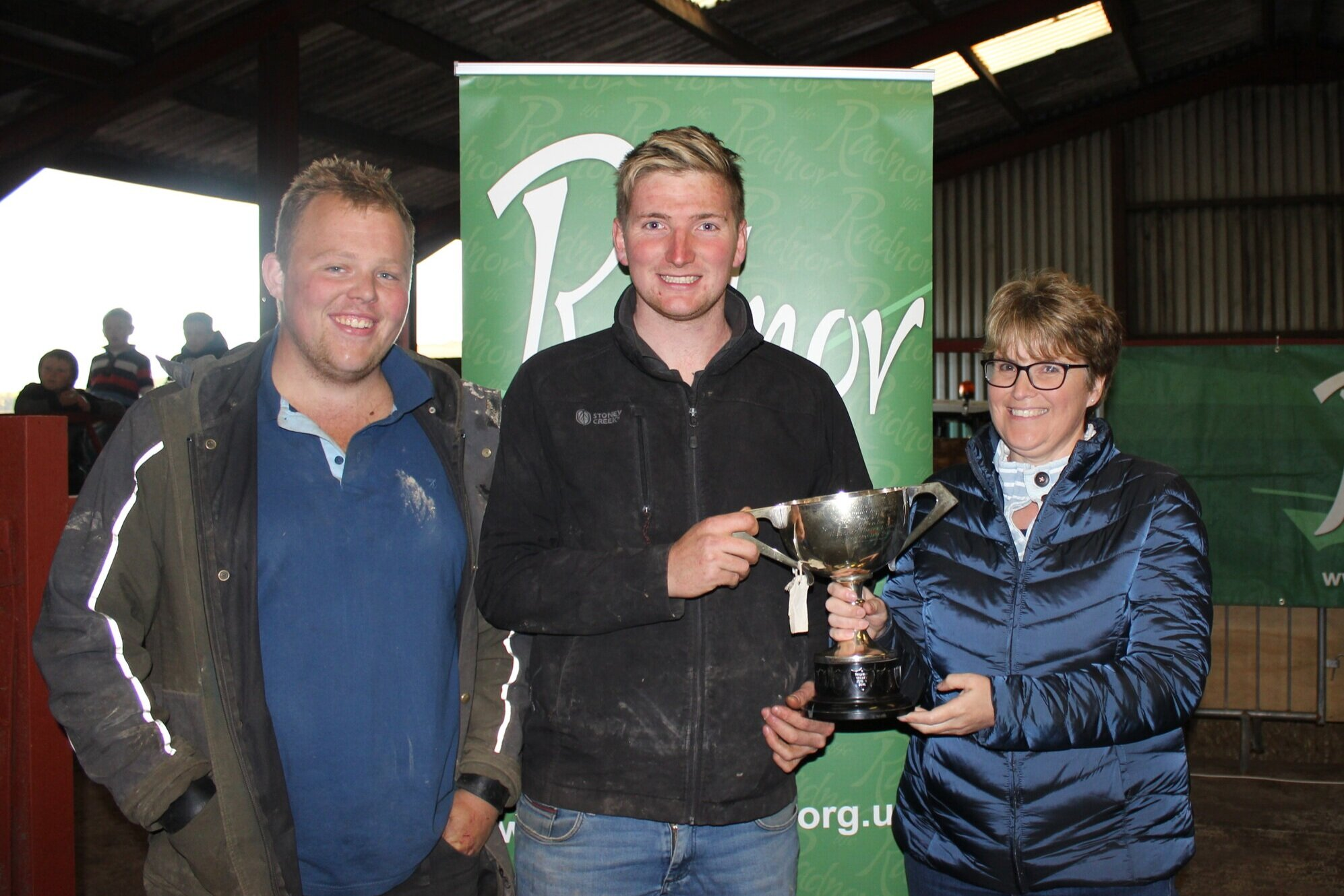 Sam Bowen & Robbie Savage, Radnor Valley YFC - Hundred House Cup for the ATV Challenge with Host, Amanda Watson