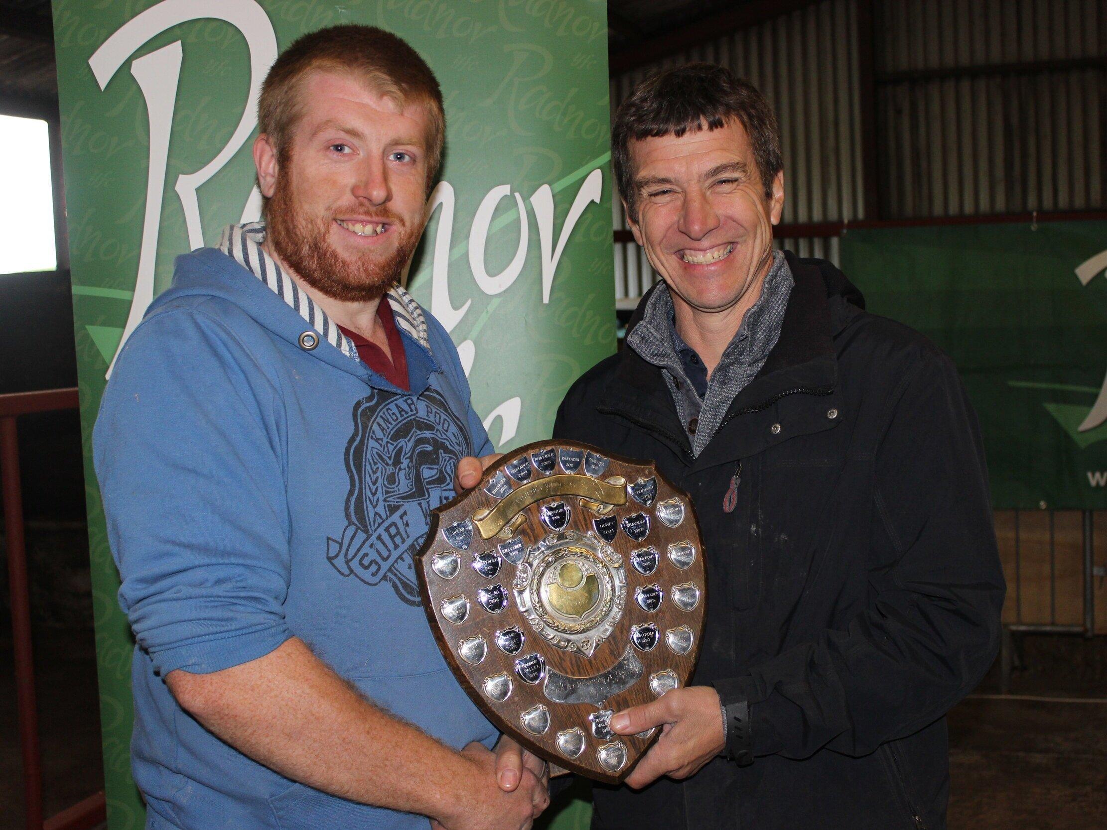 John James, Howey YFC - Penybont YFC Shield for Farm Safety Skills with Host, Mark Watson