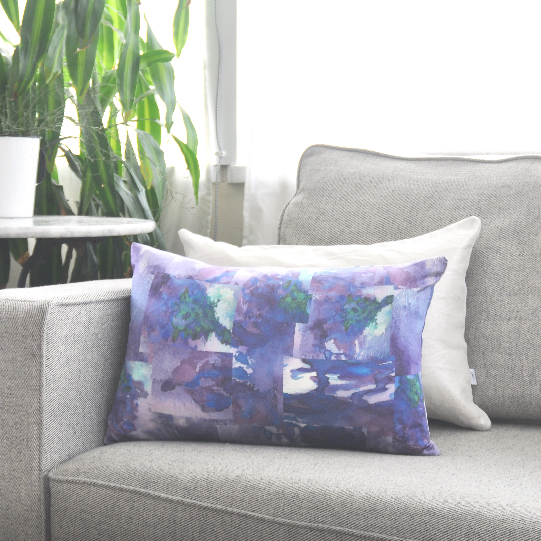 The re-vamped, reversible Fraser and one of our metallic Accent pillows!