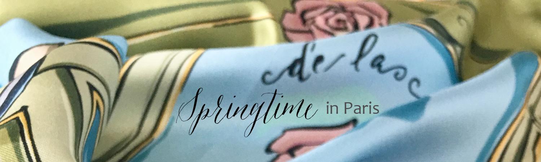 Springtime in Paris | Parisian Silk Scarves by akHOME Gallery