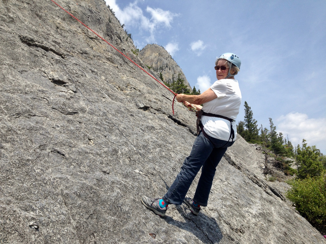 If this 85 year old can do it so can you! My Mom on her way down after another successful climb!