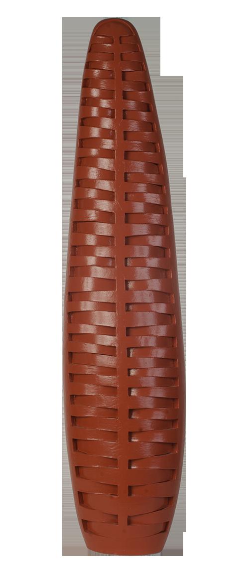 Susan Budge   Red Sentinel , 2014 Ceramic,41 x 9 x 7 inches