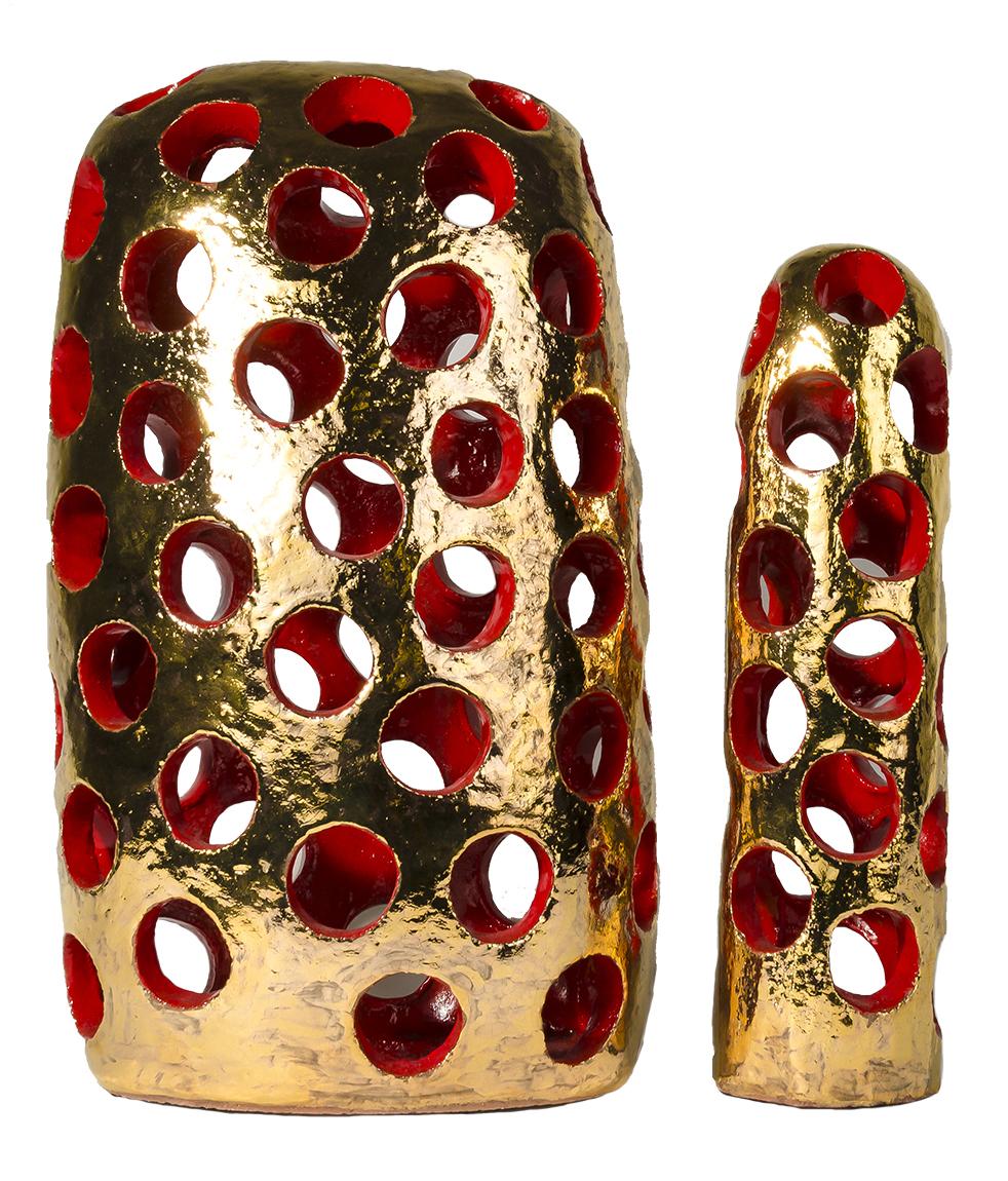 Susan Budge  Pierced Pair II  Ceramic