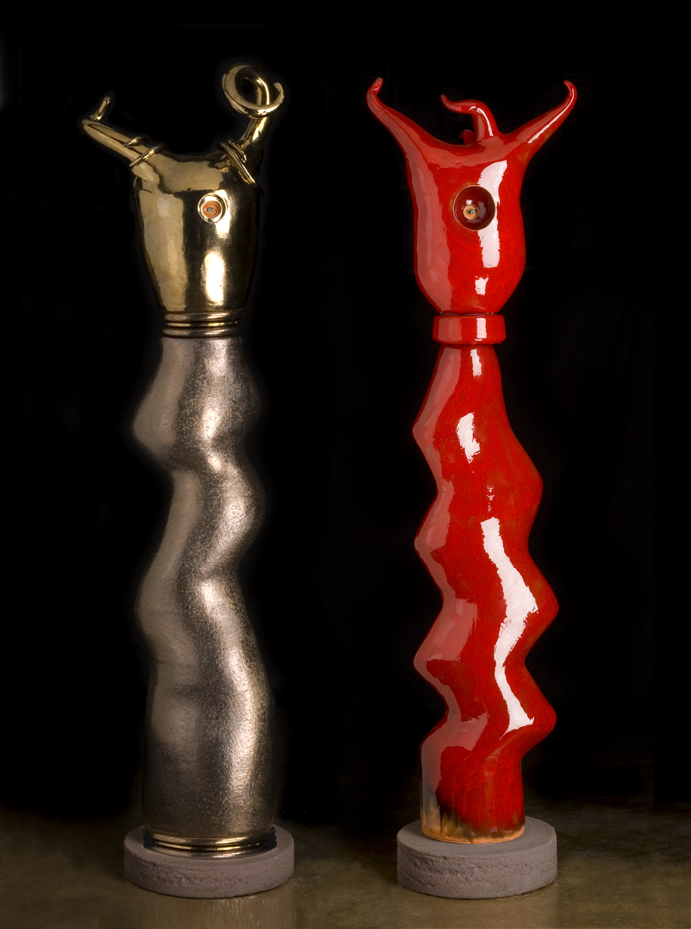 Gold Curls (left), Red Antlers (right)