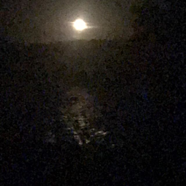 Pleine lune sur le bassin. Full moon on the pond. #enjoylife❤️ #cairanne #lifestyle #rhonevalley #beautiful #countrylife #pleinelune