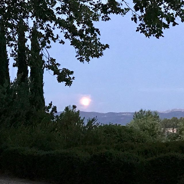 Closing in on full moon..Presque la pleine lune. #provence #landscape #summer #vaucluse #lifestyle #countryside #southoffrance