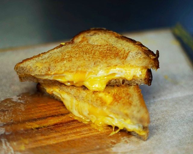 Comfort food for the uncomfortable weather. #grilledcheese #sourdough