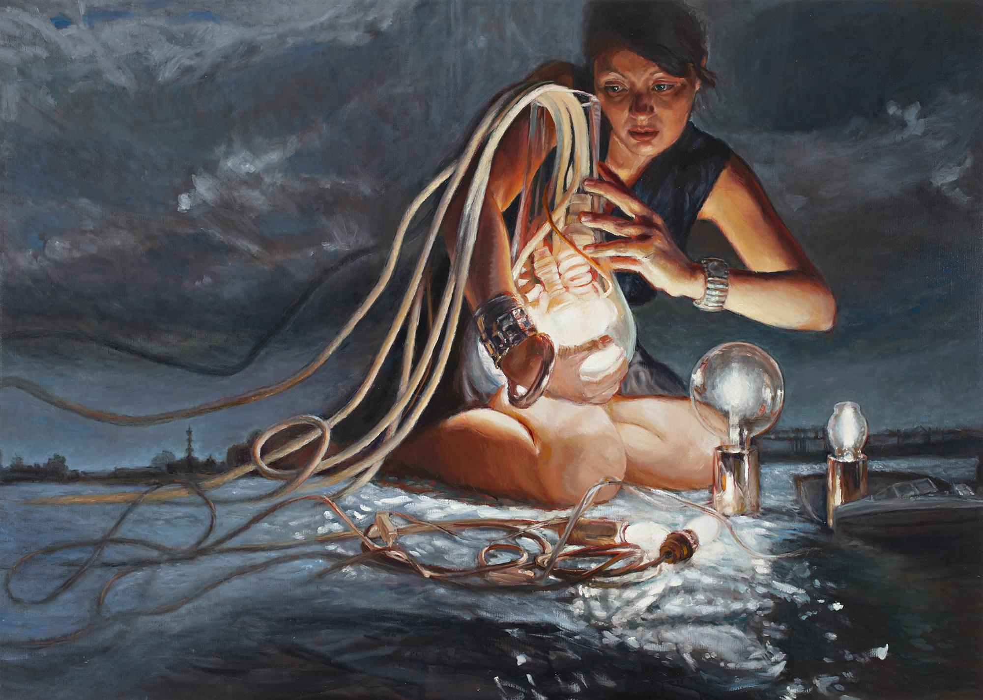 'Beacon' 160x225 cm, oil on linen