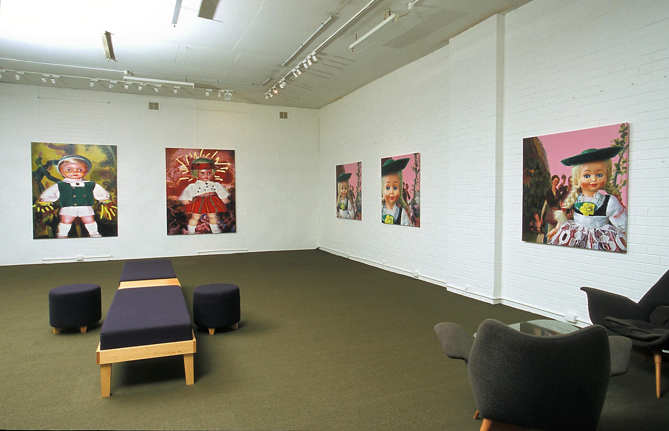 Installation view 'Heav'n & Hell' Helen Gory Galerie 2004