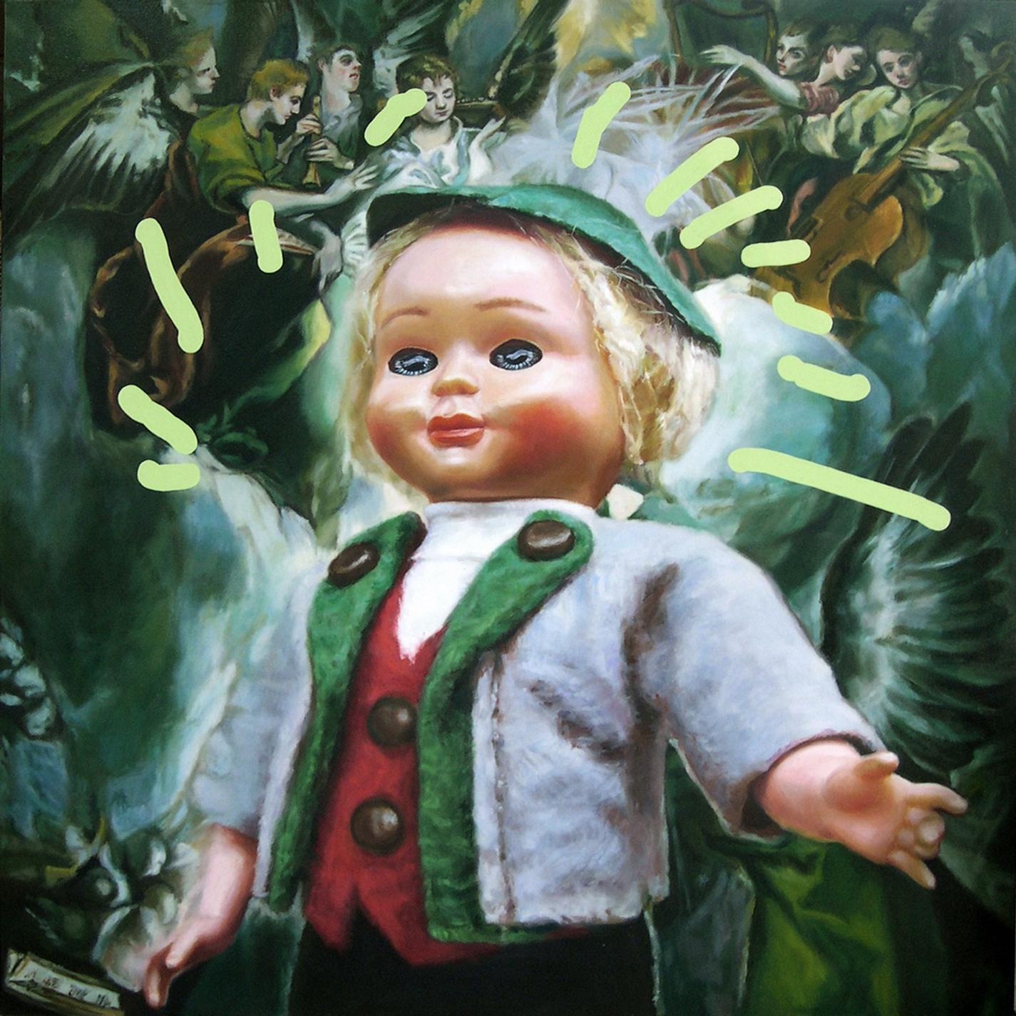 'Little Rolf (sainthood)' 122x122cm, oil and enamel on linen