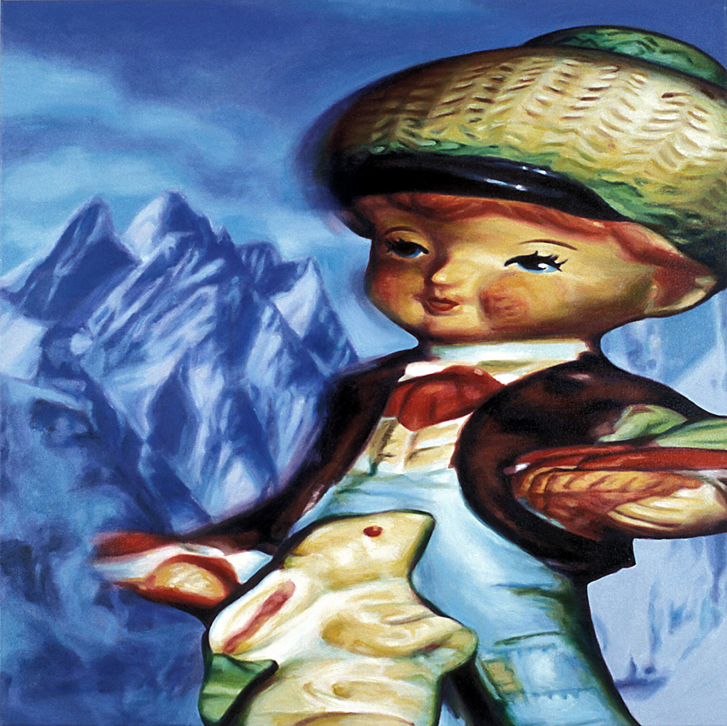 'Rabbit Boy' 122x122cm, oil on canvas