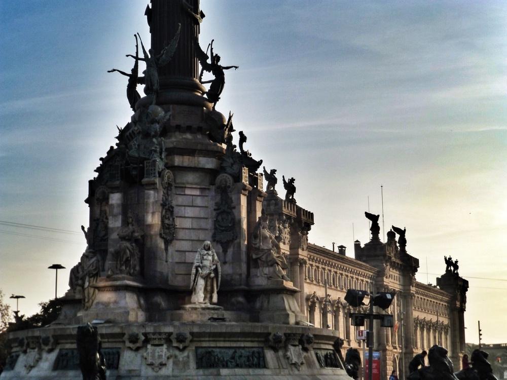 Christopher Columbus statue, port of Barcelona