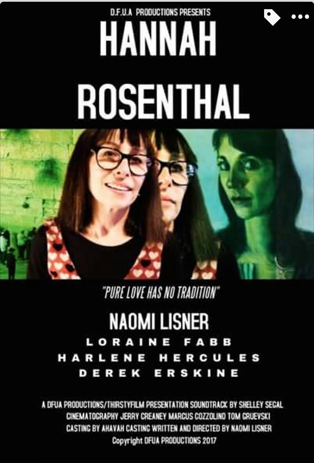 Aerfeldt painting in the short film 'Hannah Rosenthal' 2017