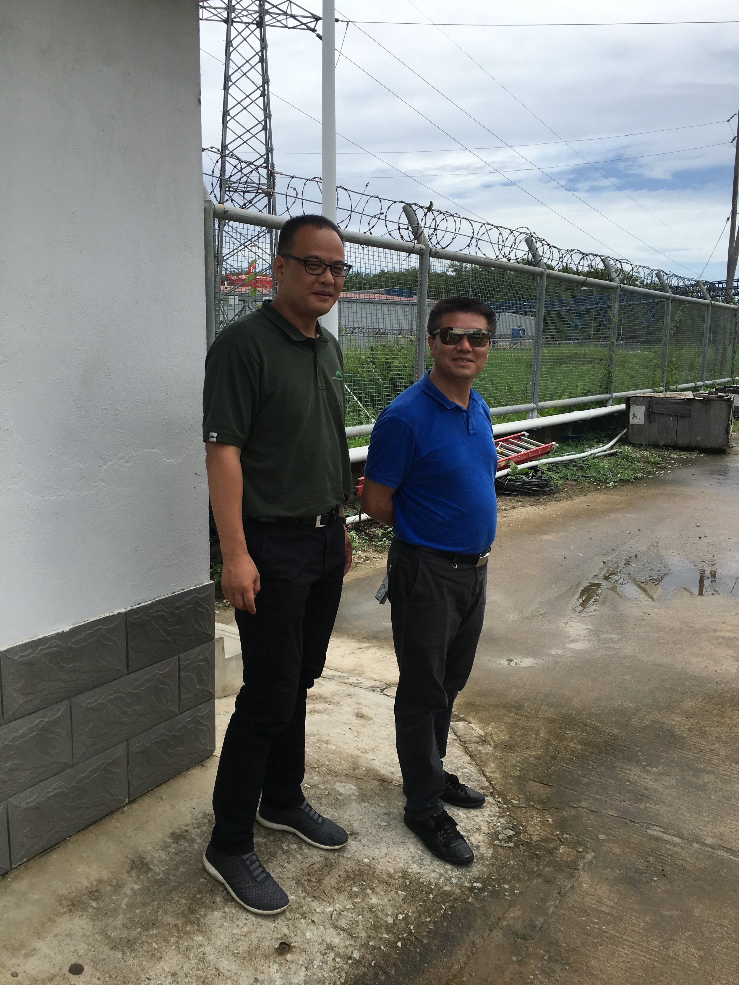 Henley & GHTE Executive at GPL Sub-Station, Guyana