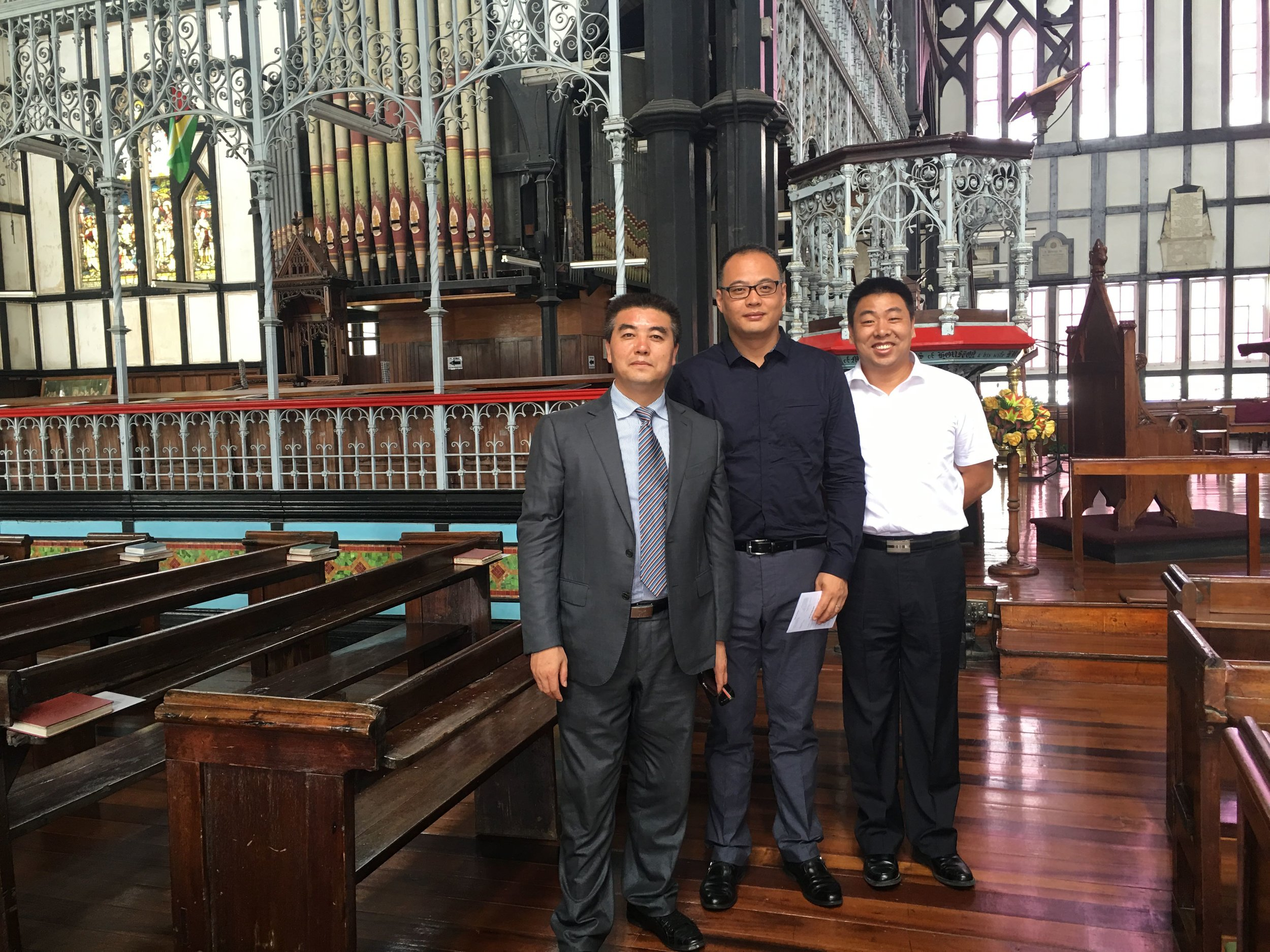 Henley, Jinling & GHTE Executive at St George's Cathedral, Guyana
