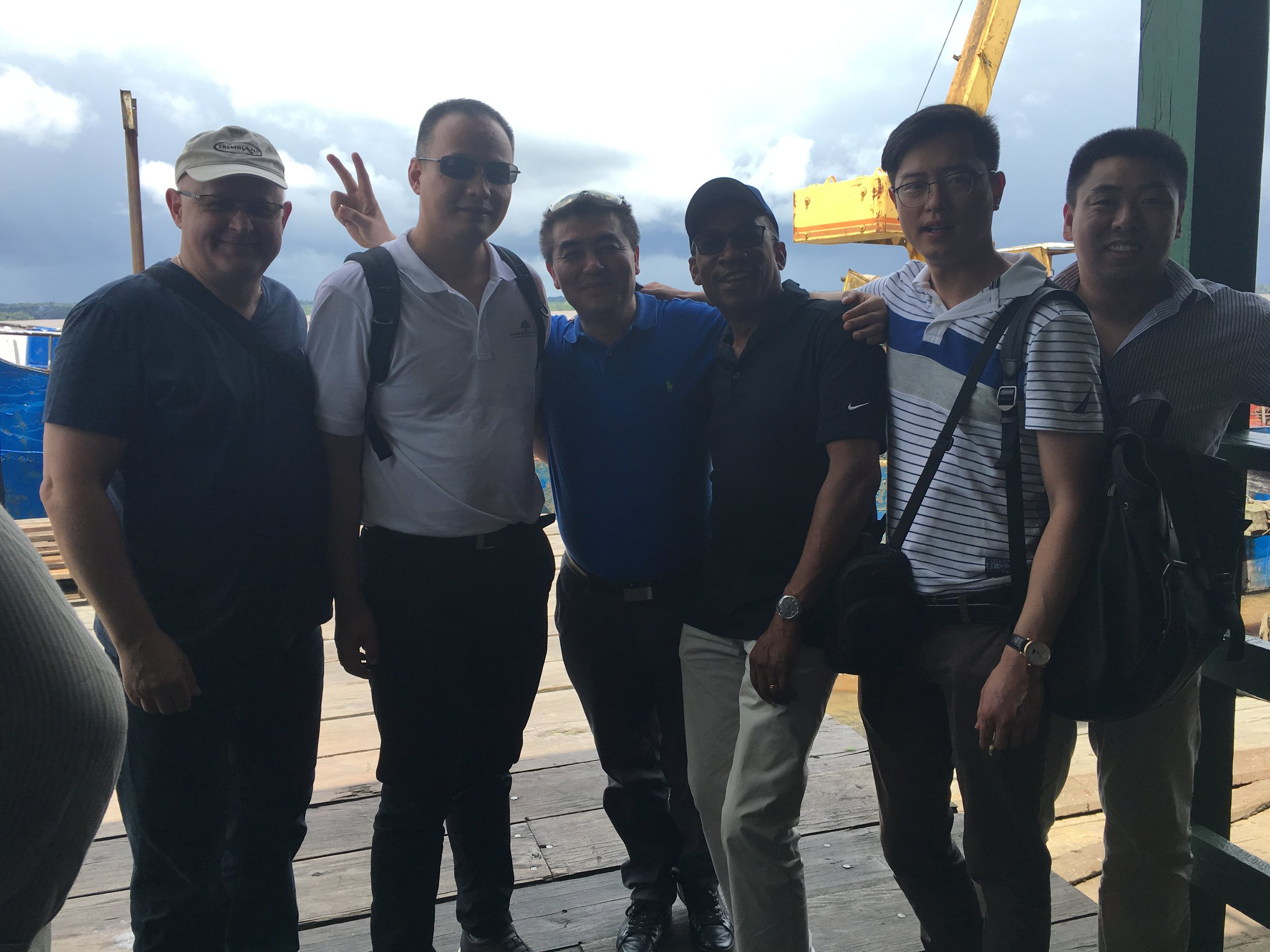 TCI, Jinling, Henley & GHTE Executives in Bartica, Guyana