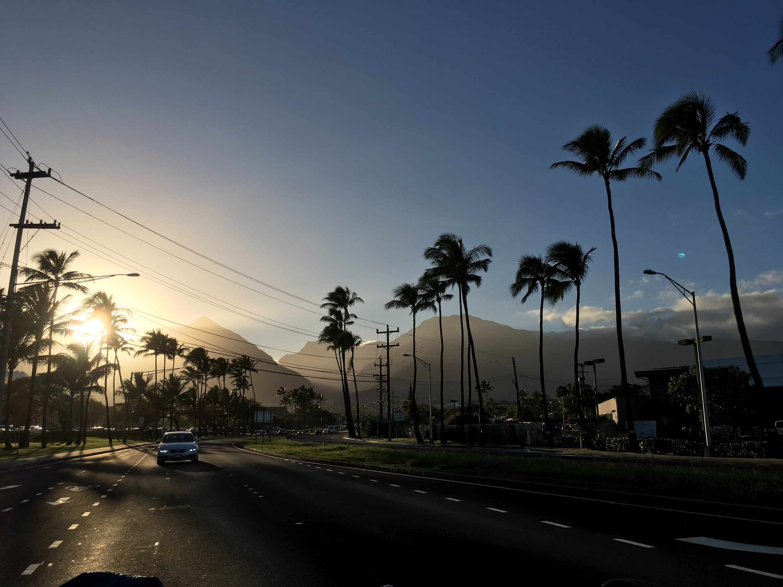 KAHului at dusk