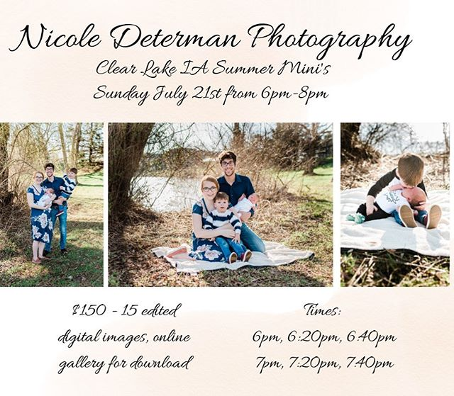 I never do this! Families or couples please DM me or leave a comment if you are interested!  #clearlake #clearlakeiowa #clearlakeiaphotographer