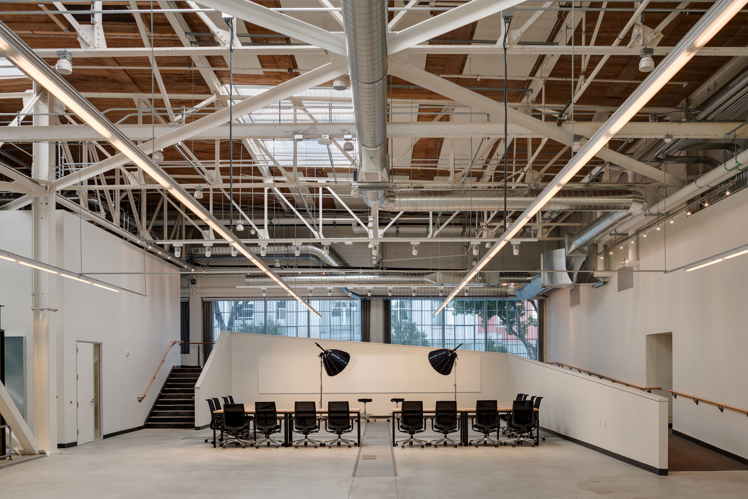 San Francisco Workplace, Office, Adaptive Reuse, Tech Company, Open Workspace, Flexible Office, Natural Light, Universal Design, Accessible Ramp