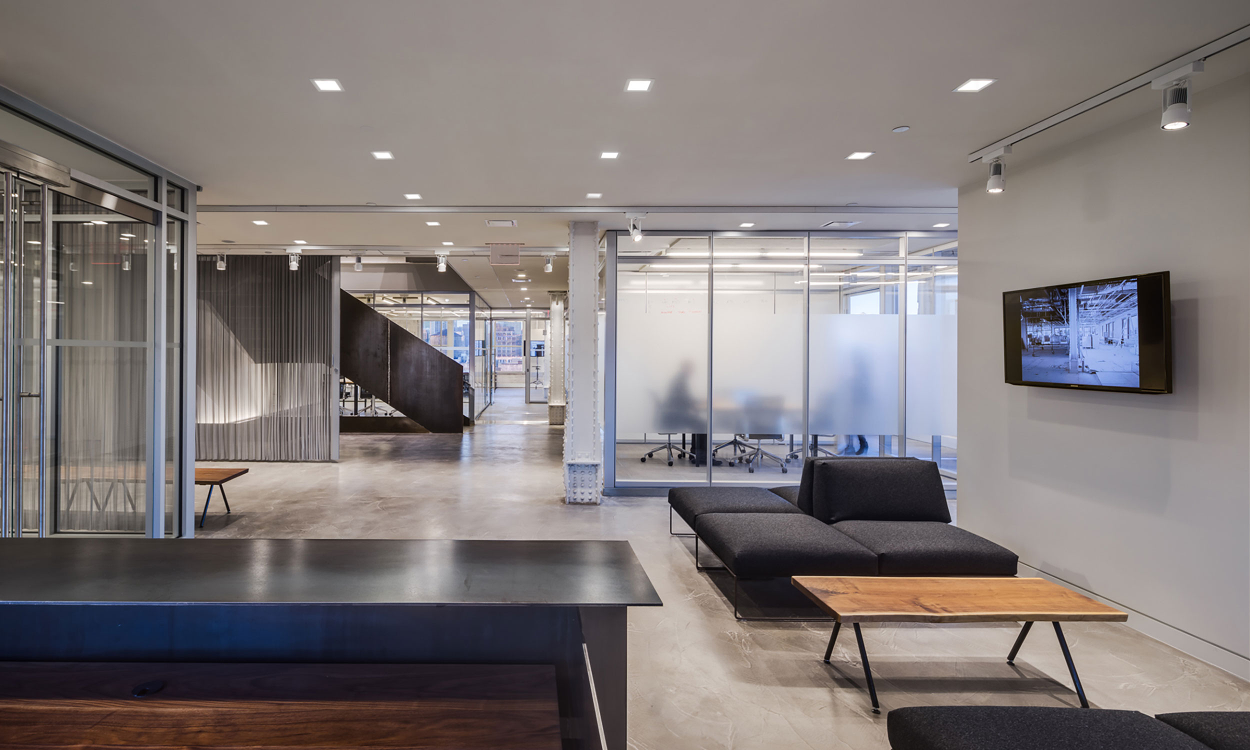 First Look Media, Landmark Building, Manhattan, New York City, Interior Architecture, Adaptable Office