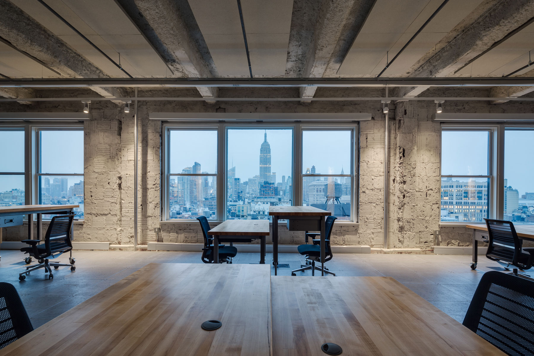 First Look Media, Landmark Building, Manhattan, New York City, Interior Architecture, Adaptable Office, Terracotta Wall, Empire State Building