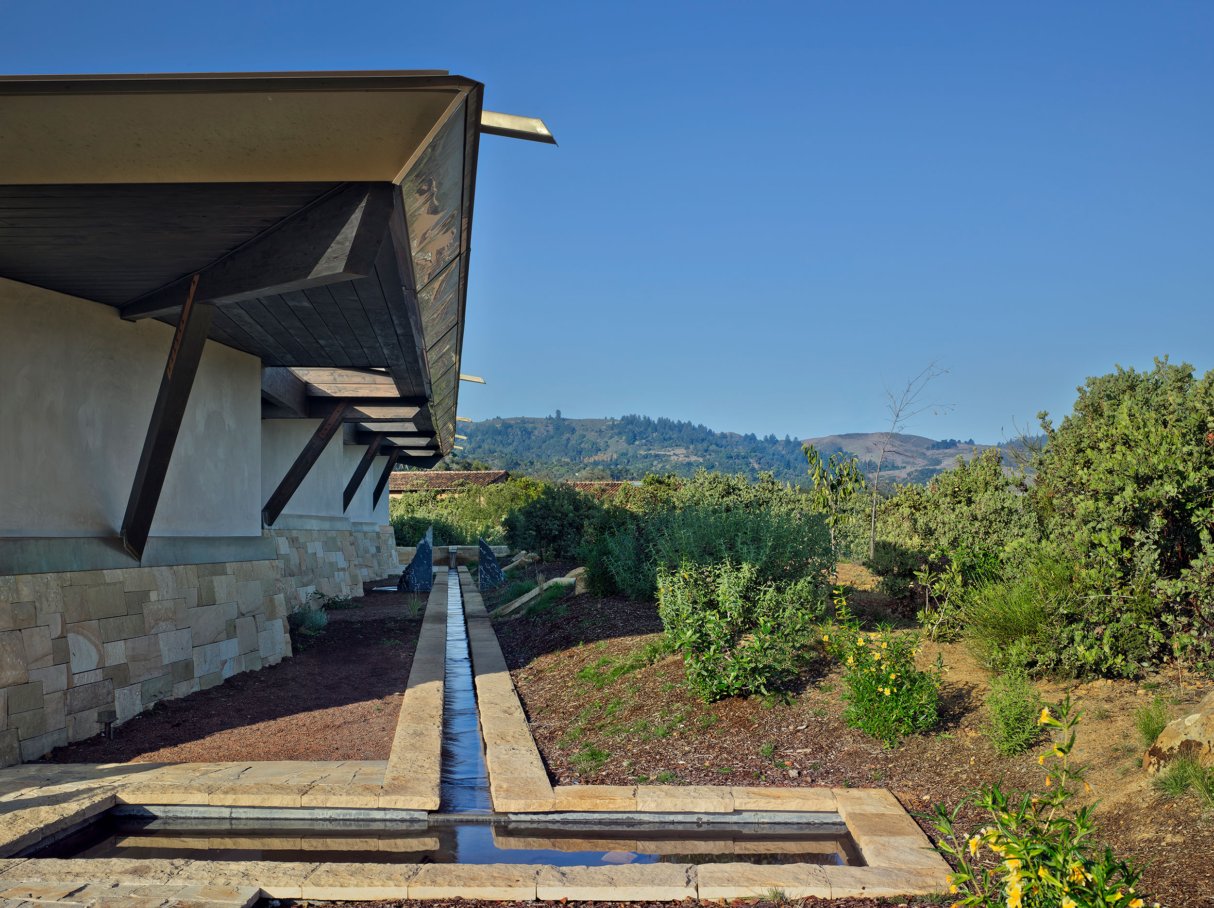 California Residence, House, Sustainability, Nature, Natural Light, Natural Materials, Biophilia, Ecology, Sky, Hills, Water