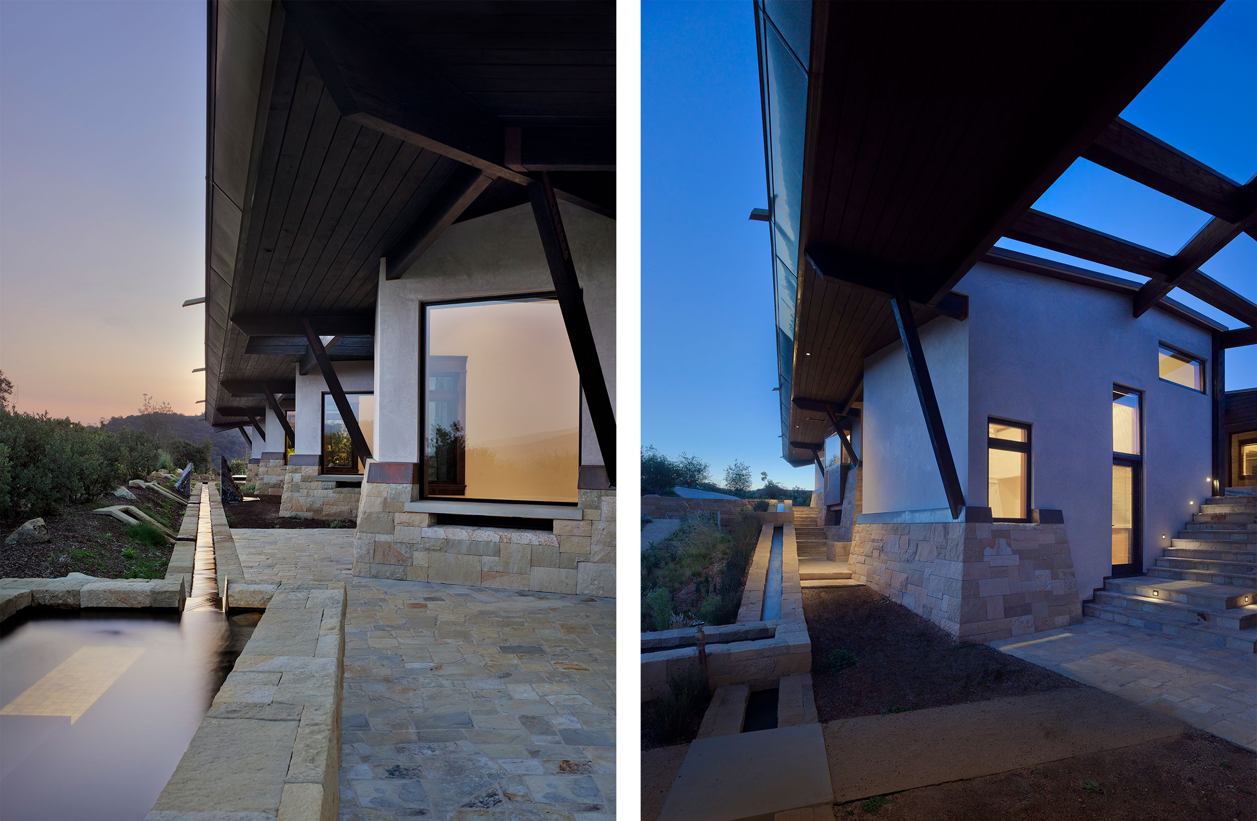 California Residence, House, Sustainability, Nature, Natural Light, Natural Materials, Stone, Roof, Shading
