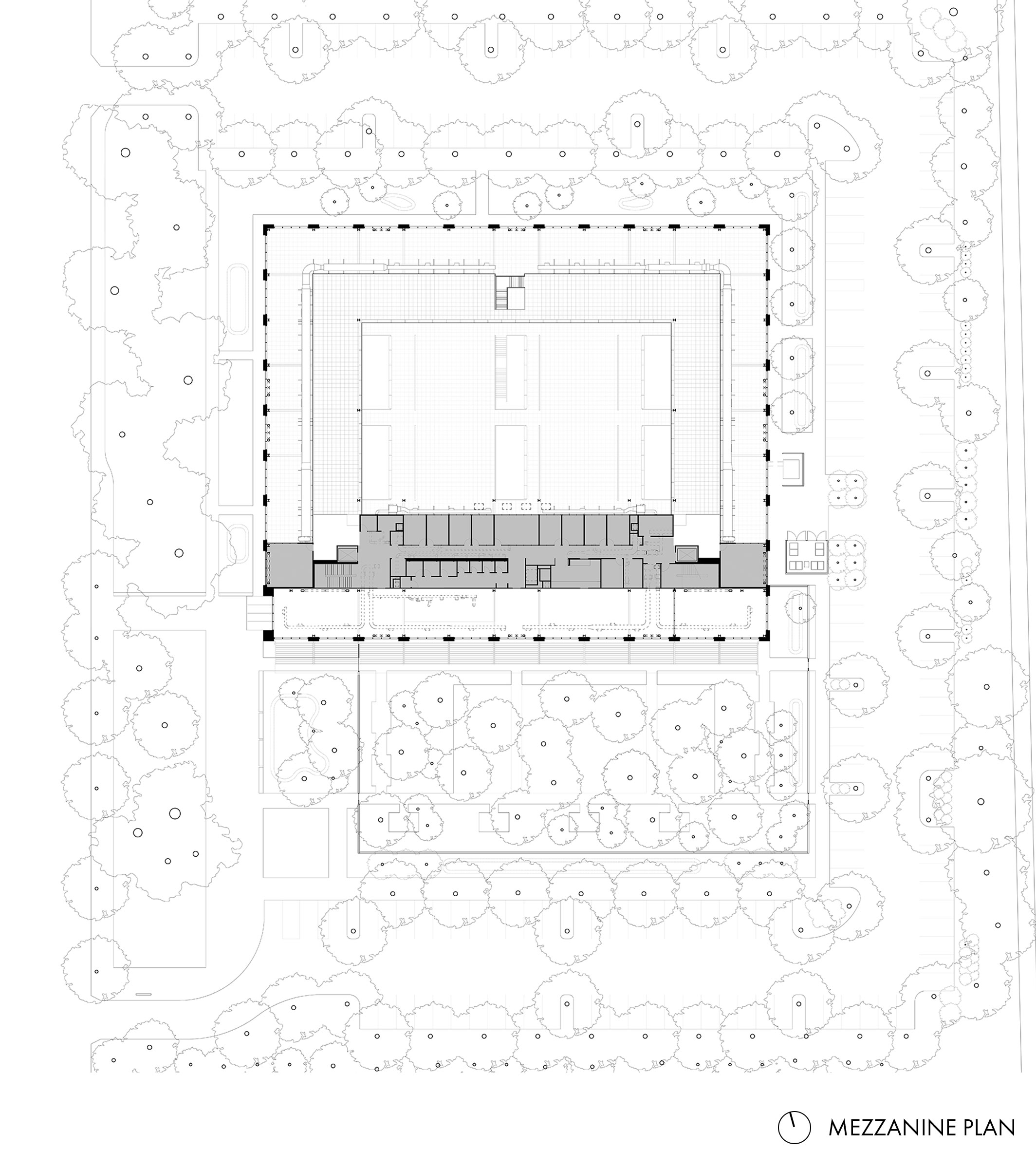 Google at 1212 Bordeaux Mezzanine Plan