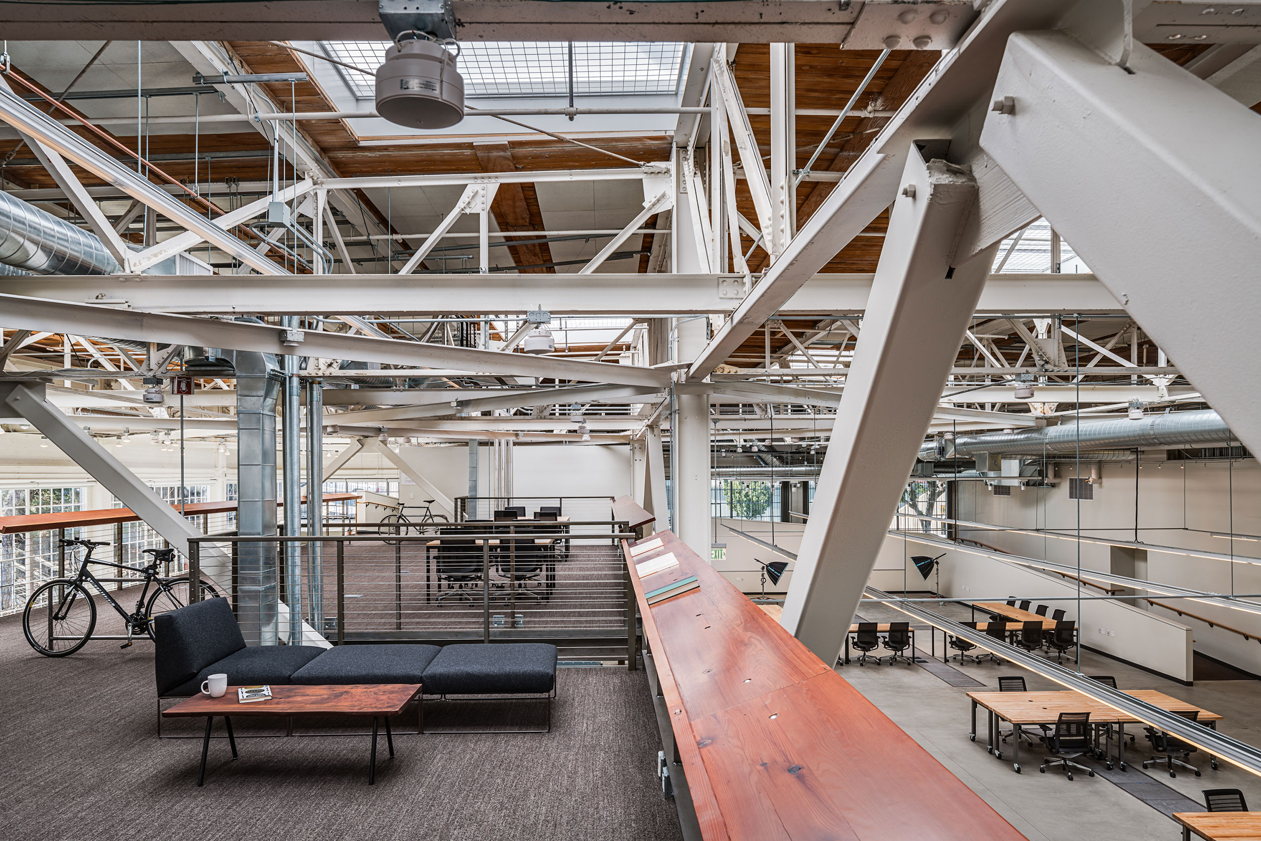 San Francisco Workplace, Office, Adaptive Reuse, Tech Company, Flexible Workspace, Ceiling Systems Integration, Natural Light
