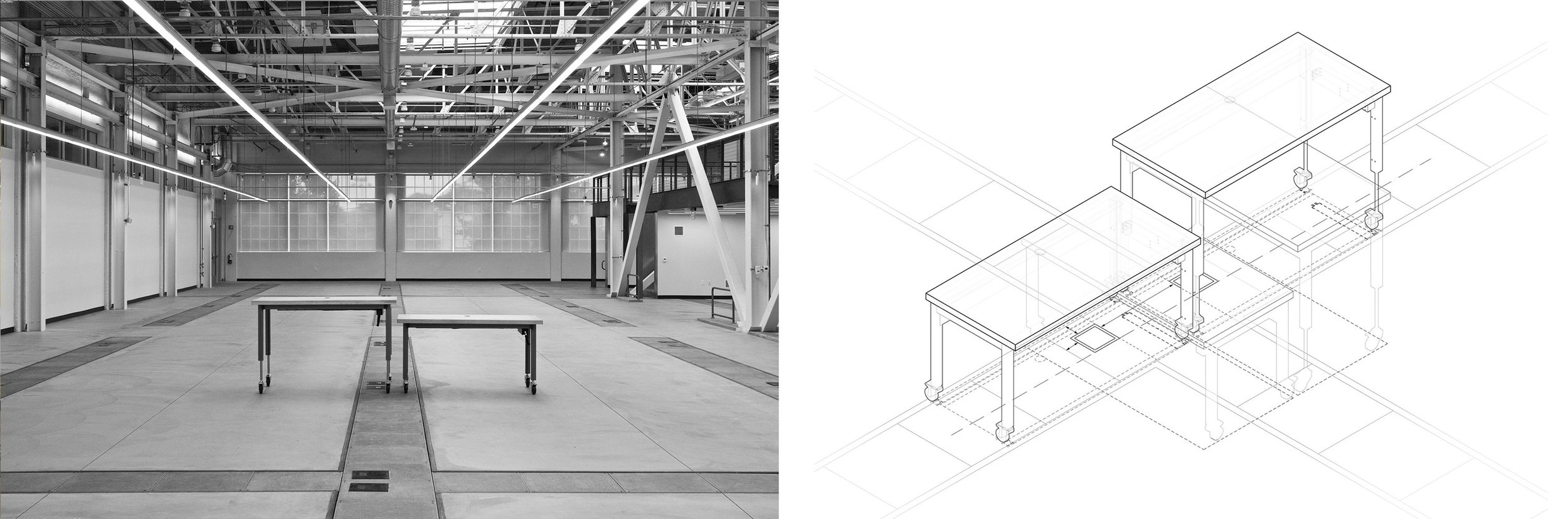 Industrial Design, Desks, Wood Steel, Adjustable, Data Management