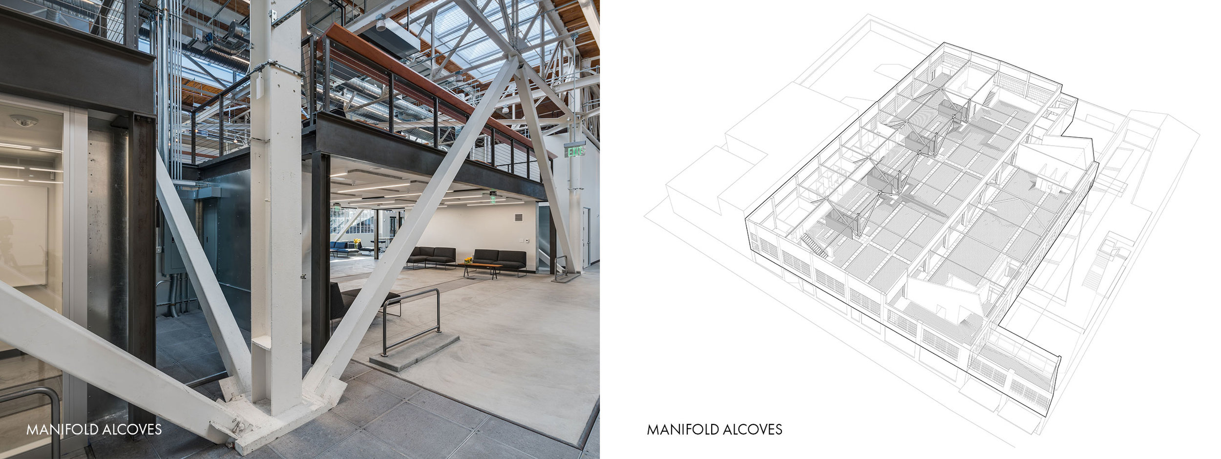 San Francisco Workplace, Office, Adaptive Reuse, Tech Company, Flexible Workspace, Radiant Heating, Data Trench, Systems Integration