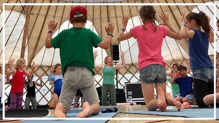 Family Yoga @ Wilderness Festival, UK, August 2017