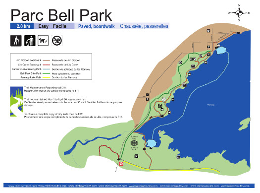 Bell Park Back Trail Map