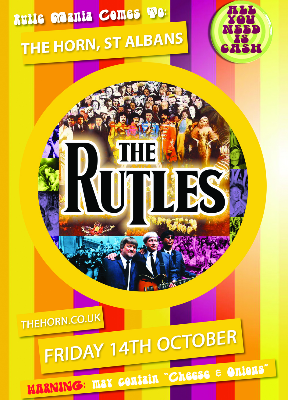 """THE RUTLES ( https://www.facebook.com/TheRutles ) It all began 40 years ago when Eric Idle (Monty Python) persuaded Neil Innes (Bonzo Dog Doo Dah Band) to join him in a TV comedy series for BBC 2 called Rutland Weekend Television. The concept was satirical - a spoof low-budget TV station, (the smallest in Britain) that could only churn out ludicrously cheap """"programmes"""".  Idle would write sketches and Innes would put pictures to songs…  Innes suggested to Idle that they could do a send-up of A Hard Day's Night, the Beatles first movie. """"It's in Black and White, it's speeded up, and we could wear wigs and tight trousers and run around a field somewhere…""""  Idle agreed. """"I've got a sketch about a man making a documentary who's so boring, the camera runs away from him…""""  And so the name """"Rutles"""" was born. But no one could have foreseen what was around the corner. A year or so later, such was the enormous pressure on the Beatles to get back together again, the one-off Rutland Weekend clip was shown in the USA – as part of a """"running gag"""" - on NBC's hugely popular """"Saturday Night Live"""".  It was a sensation. Thousands of people wrote in. Mailbags were bulging - and so were the trousers. Everyone got the joke. Lorne Michaels, the producer, believed the entire Beatles story could now be re-told – as """"The Rutles"""". The people upstairs at NBC agreed and gave him the money.  Eric Idle quickly came up with the title: """"All You Need Is Cash – the story of the Pre-Fab Four"""". Bill Murray, John Belushi and Dan Ackroyd soon got involved – as did George Harrison, who brought in Mick Jagger and Paul Simon.  The world's first """"Rockumentary"""" – or """"Mockumentary"""" - was broadcast in the discontented summer of 1978. To this day it proudly holds the record for the lowest viewing figures - ever - on American Prime Time Television."""