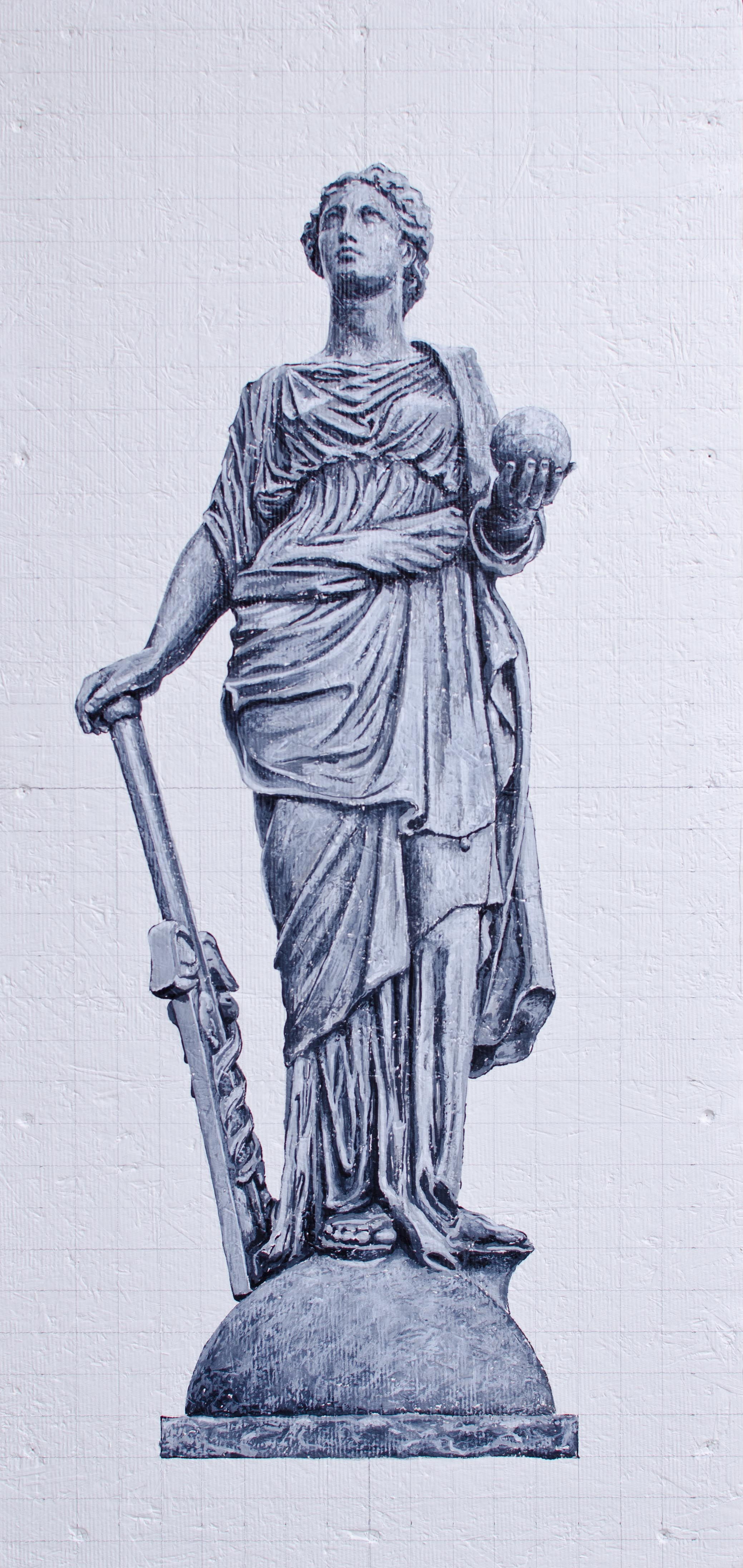 """Science - Caduceus in her right hand and a globe in her left hand - 18/36"""""""