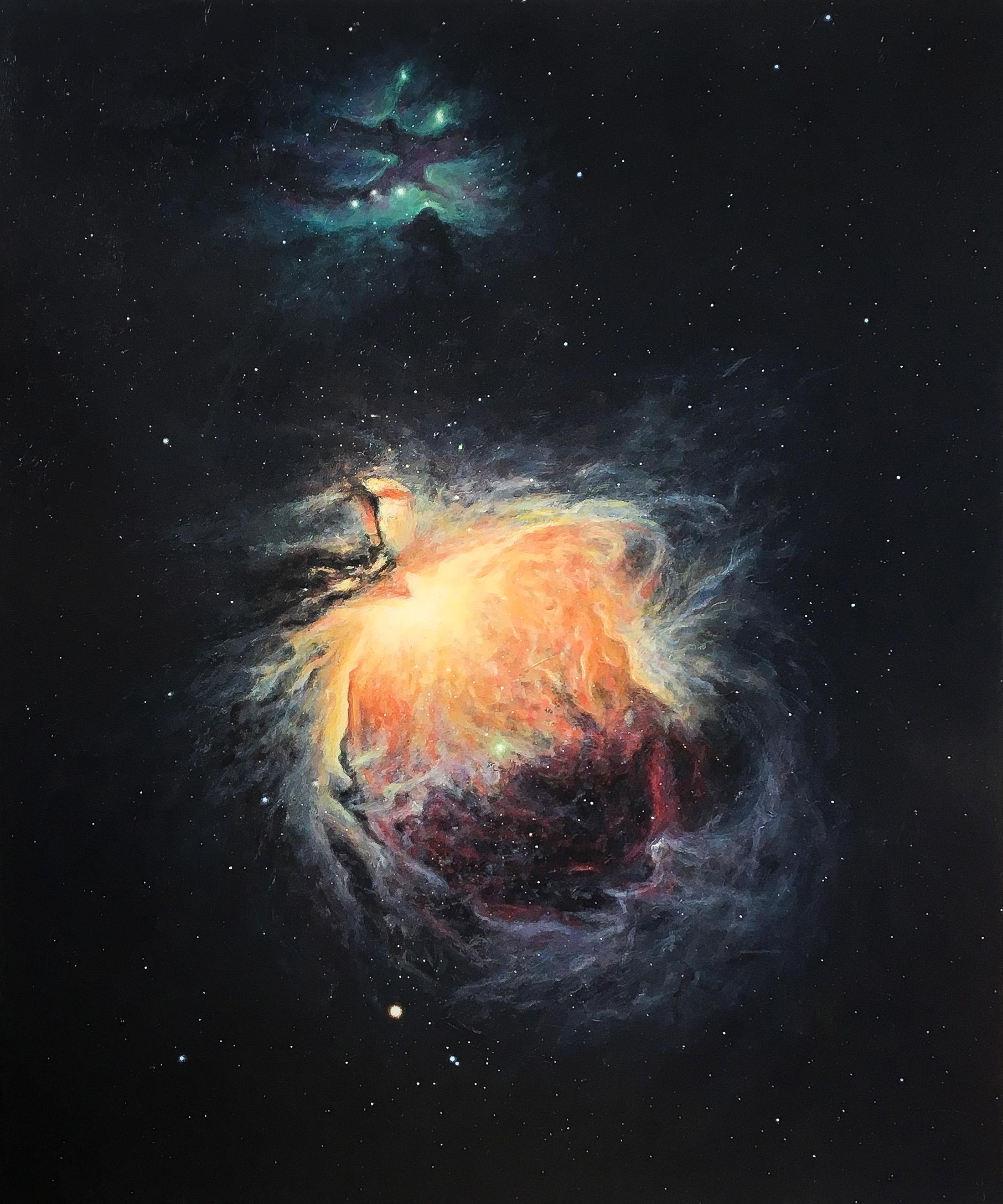 "Orion Nebula 72/62"" acrylic/canvas"
