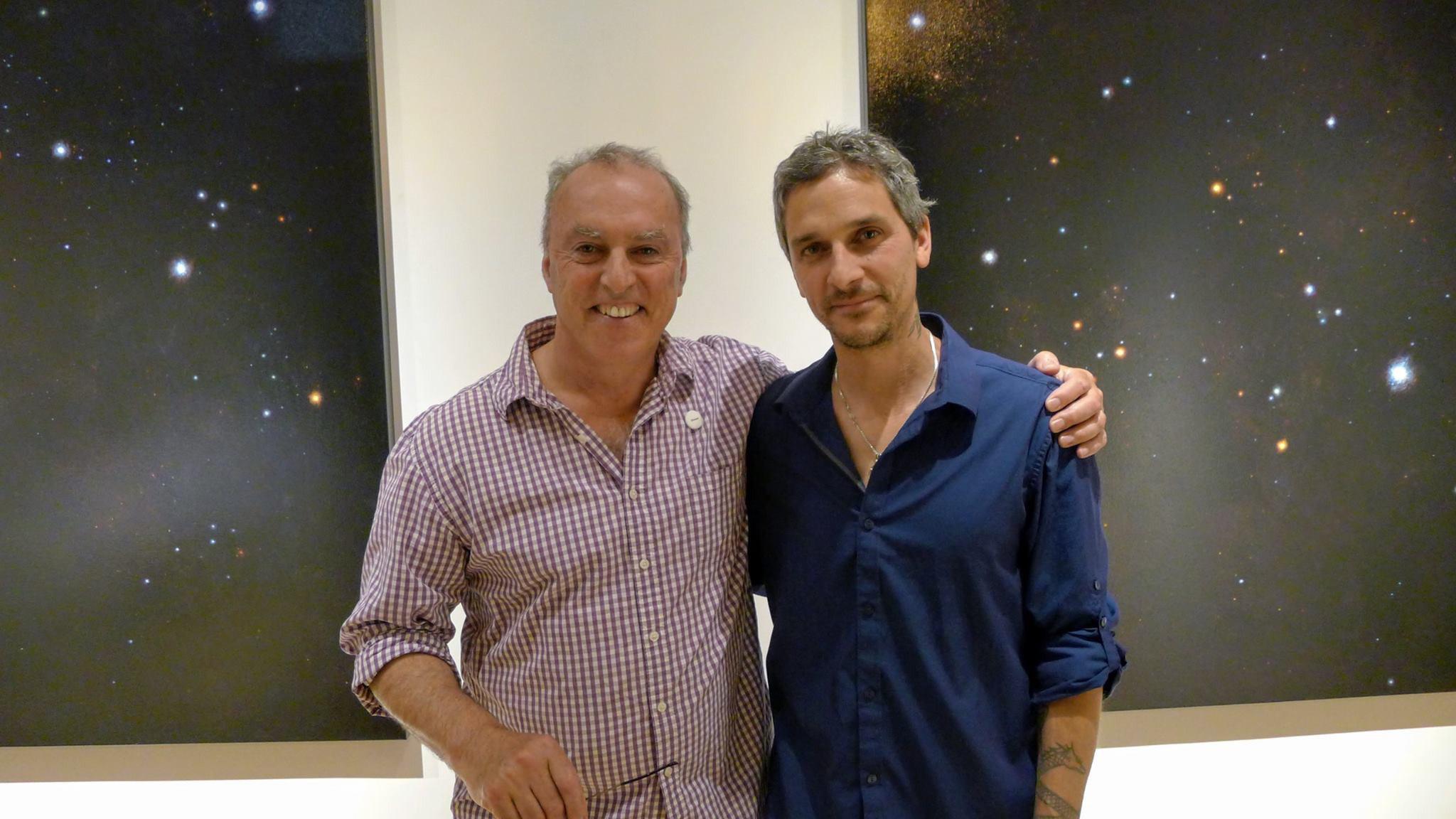 EBK Gallery owner Eric Benkiki and i.