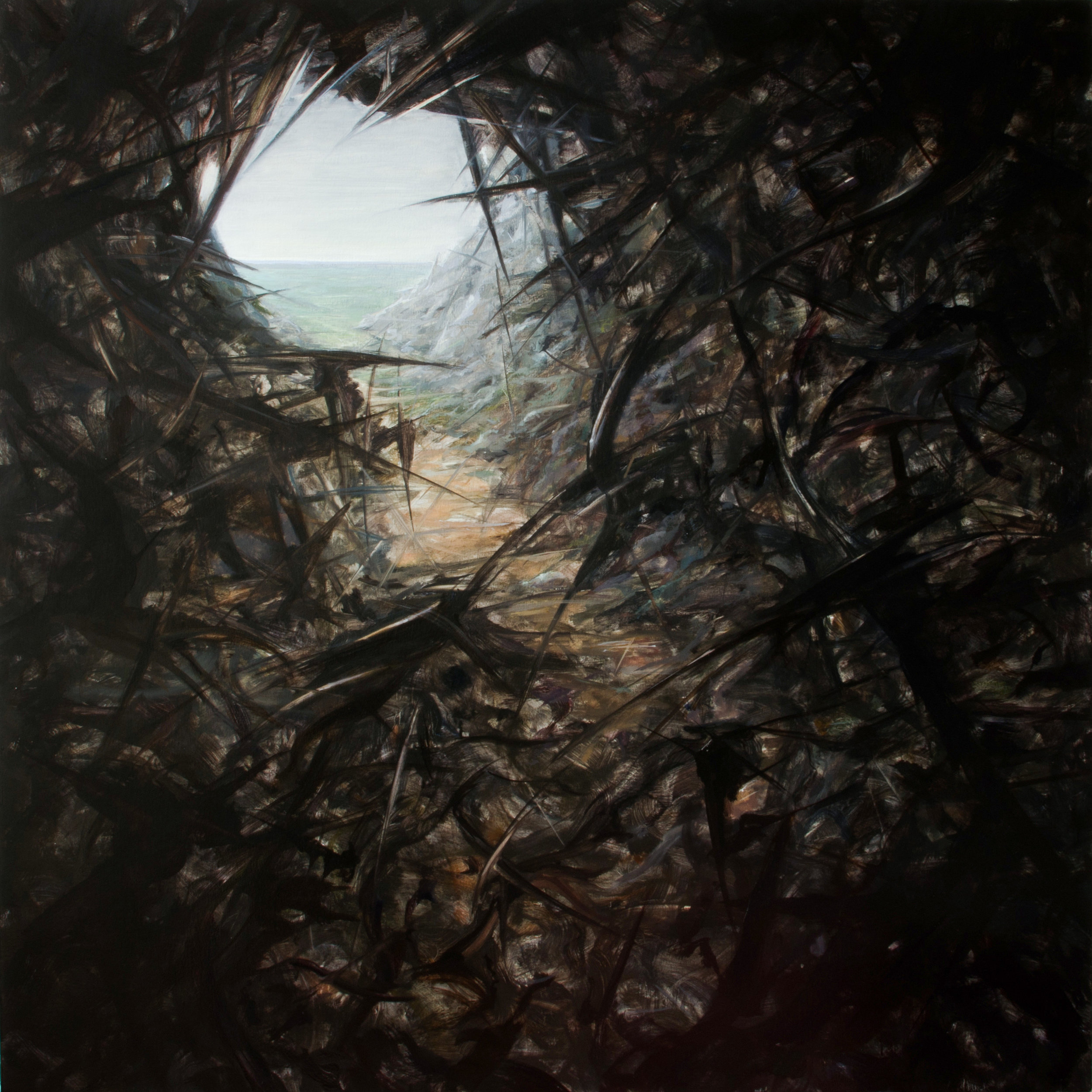 "jasonwernerart Hope/Hopeless #9 54/54"" oil/canvas"