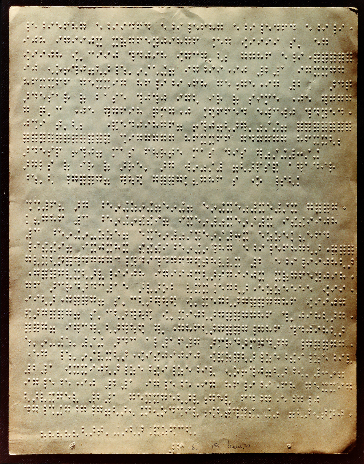Original Braille manuscript of the Concierto de Aranjuez