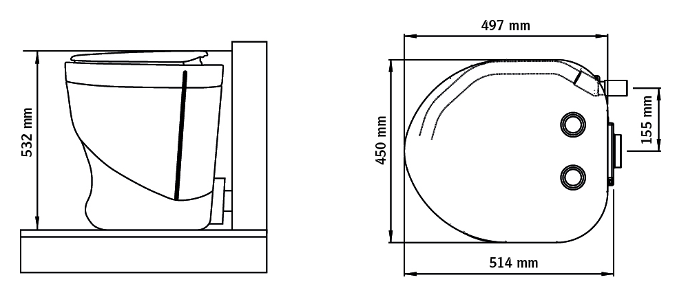 Separett Weekend Dimensions | Composting Toilet | Tiny Life Supply.png