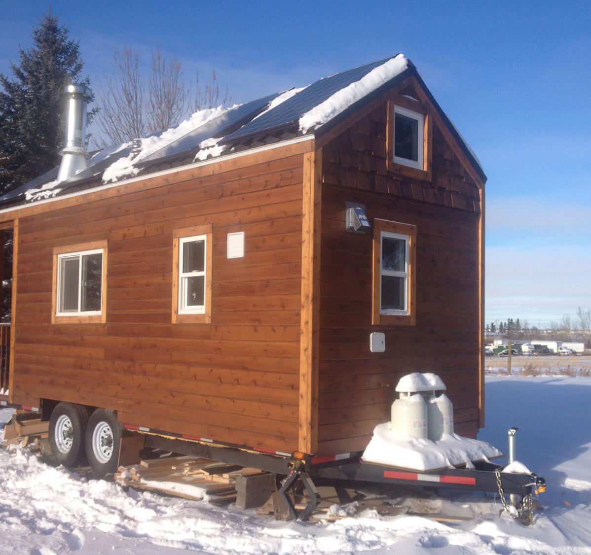 Leah's Canadian four season cedar cabin on wheels!