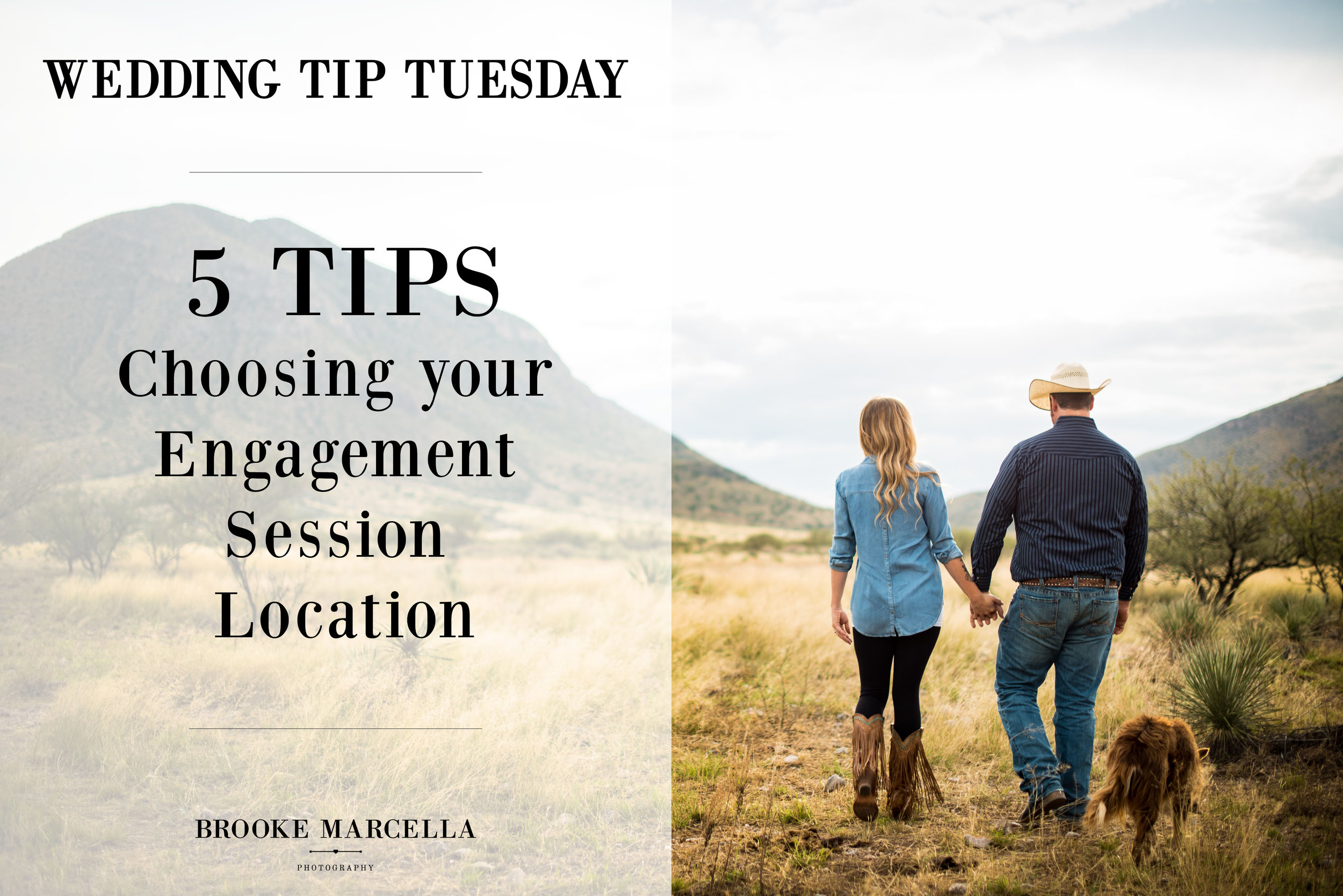 How to Choose Your Engagement Session Location, tips from a professional Arizona Wedding Photographer.