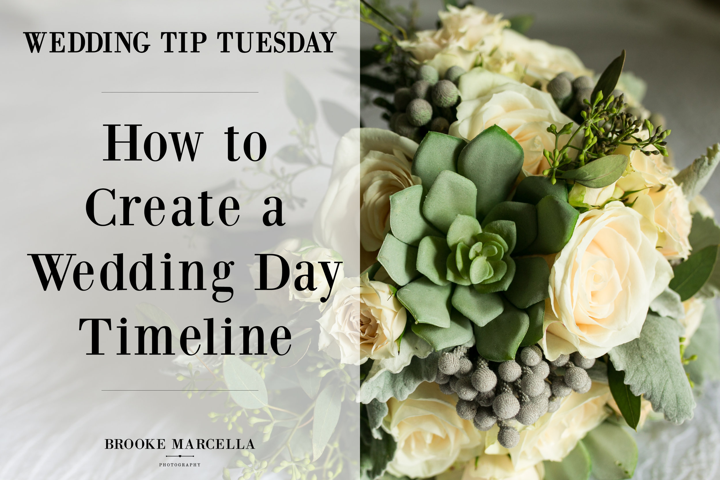 Tips on creating a wedding day timeline.